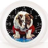 Englische Bulldogge Wanduhr 25.40 cm schönes Geschenk und Raum Wandtattoo W217