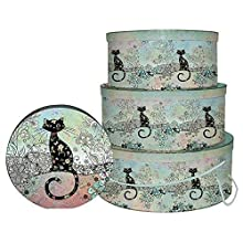 Bug Art Cat Set of 3 Hat Boxes Gift Box
