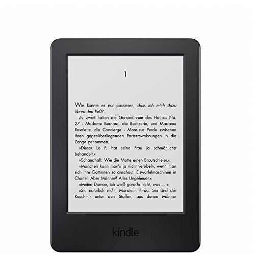 Amazon Kindle eReader, 15,2 cm (6 Zoll) Touchscreen ohne Spiegeleffekte, WLAN (Schwarz) - mit Spezialangebo