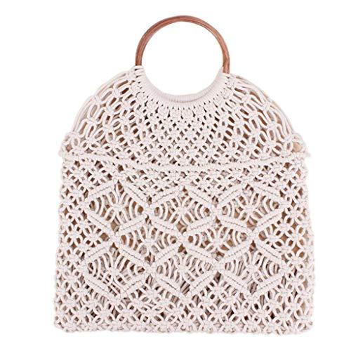 Stilvolle umhängetaschen umhängetasche geldbörsen handtaschen messenger bags neue baumwolle seil netztasche hand gewebt hohl handtasche retro umhängetasche stroh tasche
