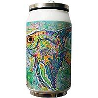 Okoukiu pesce colorato doppio isolamento sottovuoto in acciaio INOX lattine bottiglie d' acqua, 280ML–regalo personalizzato (Pesce Tumbler)