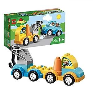 LEGO DuploMyFirst LaMiaPrimaAutogrù, Set di Mattoncini da Costruzione con Veicolo Giocattolo per Bambini e Bambine di1,5 Anni, 10883 5702016367553 LEGO