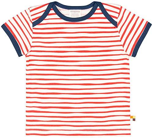 loud + proud Unisex Baby T-Shirt mit Druck, aus Bio Baumwolle, GOTS zertiziziert, Rot (Cayenne Cay), 80 (Herstellergröße: 74/80) -