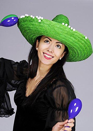 Sombrero Sombrero mexicano verde brillante