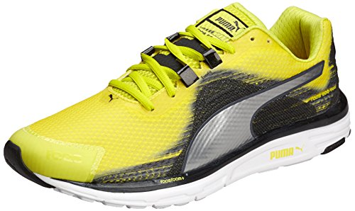 Puma Faas 500 V4, Chaussures de Running Entrainement Homme Multicolore (sulphur Spring-silver Metallic-black)