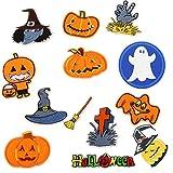 13 piezas surtidas de calabaza tallada Tombstone Ghost bordado hierro sobre parches para brujas, sombrero, coser en apliques, diseño de Halloween para decoración de ropa
