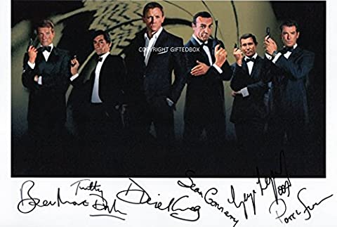 LIMITED EDITION JAMES BOND ACTORS 007 SIGNED PHOTO + CERT PRINTED AUTOGRAPH SIGNATURE SIGNED SIGNIERT AUTOGRAM by GIFTEDBOX