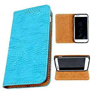i-KitPit PU Leather Flip Case For Micromax Canvas Juice A77 (SKY BLUE)