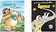 Masha And The Bear (Folk Tales) + Space - My Knowledge Book (Set of 2 Books)