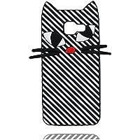 Case Samsung Galaxy A3 2016 Hülle, [ 3D Cartoon Katze Stripe TPU Soft flexibles ] Handyhülle Samsung Galaxy A310 Cover, Staub-Beleg-Kratzer beständig