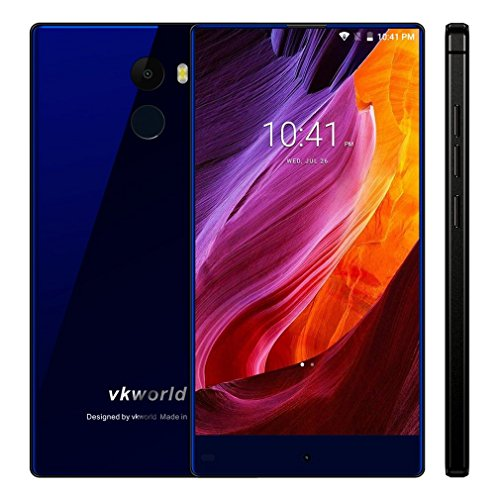 Glas 3-licht-arc (Smartphone Ohne Vertrag,Vkworld Mix Plus 4G Acht-Core Android 7.0 Handy mit Fingerprintsensor,5,5 Zoll 1280 x 720 Pixel 2.5D Arc Screen,5MP /13MPcam,MTK6737 Quad Core 1.3GHz,3GB RAM + 32GB ROM,2850mAh (Blau))