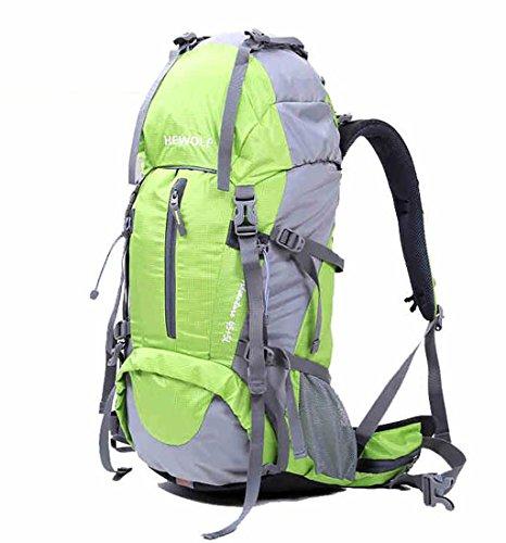 Mountaineering Rucksack Tasche wasserdichten Outdoor-Männer und Frauen wandern Reisen Folding Rucksack Reiten Grün