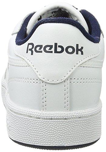Reebok Club C 85, Scarpe da Ginnastica Uomo Bianco (Int-White/Navy)