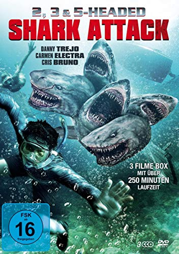 2, 3 & 5 Headed Shark Attack Box (3 DVD-Edition)