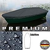 Premium Boot Persenning - Anka, Ruderboot, Schlauchboot, Angelboot & Co Bootsplane extrem reißfest (Anthrazit, 420 cm x 140 cm)
