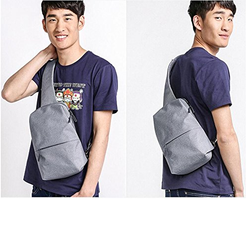 Zaino da escursionismo, Xiaomi sport outdoor zaino multifunzionale borsa a tracolla Sling bag petto Pack escursioni ciclismo bicicletta Zaino Light Gary
