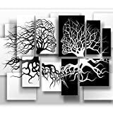 murando - Fototapete Schwarz Weiß 350x256 cm - Vlies Tapete - Moderne Wanddeko - Design Tapete - Wandtapete - Wand Dekoration - Abstrakt 3D Baum Love h-A-0089-a-a