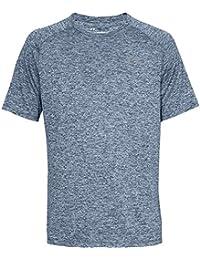 Under Armour Ua Tech Tee 2.0 Camiseta de manga corta, Hombre, Azul (Academy