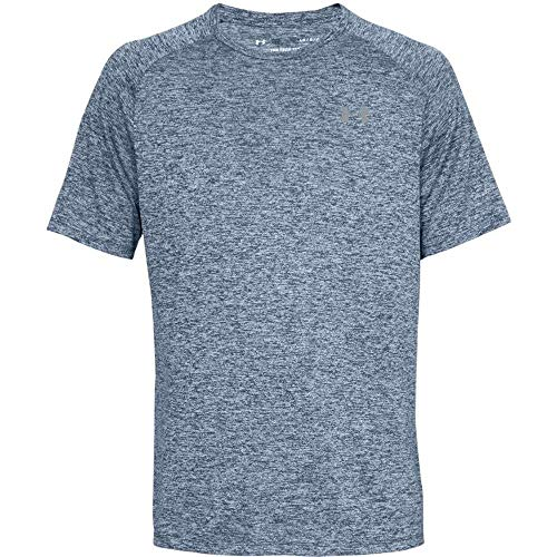 dry fit Under Armour Herren UA Tech SS Tee 2.0 Kurzarmshirt, Academy/Steel (409), XXL