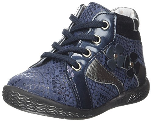 Babybotte Azala, Baskets Hautes Fille Bleu (Marine Python)