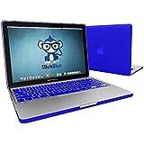 SlickBlue ultra delgado de peso ligero de goma cubierta del estuche rígido para MacBook Pro de 13 pulgadas (Modelo: A1278) - Real Azul