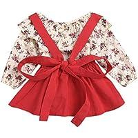 PAOLIAN Conjuntos Ropa para Niñas bebe recien nacido para Verano Camisetas de Impresion de Florales +