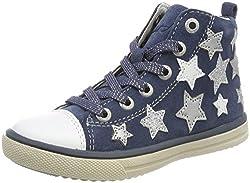 Lurchi Mädchen Starlet Stiefel, Blau (Jeans), 34 EU