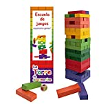 Outlletdelocio. Torre Jenga XXL de colores, juego de equilibrio en...