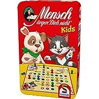 Schmidt-Sp-51273-Mensch-rgere-Dich-Nicht-Kids-Reisespiel Schmidt Sp 51273 Mensch ärgere Dich Nicht Kids, Bring Mich mit Spiel in der Metalldose -