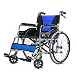 HT BEI Rollstuhl, Leichte Faltbare Tragbare Reise, Aluminiumlegierung älterer behinderter manueller Rollstuhl mit Handbremse |