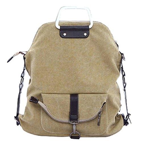 Imagen de smarstar 2 en 1  casual de lienzo bolso bandolera para mujeres  escolar  para viajar  color beige