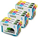 JARBO 163XL Kompatibel mit Epson 16XL 16 Druckerpatronen für Epson WorkForce WF-2630WF WF-2530WF WF-2760DWF WF-2510WF WF-2010W WF-2650DWF WF-2520NF WF-2660DWF WF-2750DWF WF-2540WF, 3 Blau/3 Rot/3 Gelb