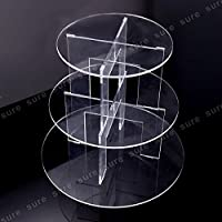 Innova® Tier 3 4 5 Level Round Cupcake Stand Dessert Tower Clear Acrylic Display Cake Stand