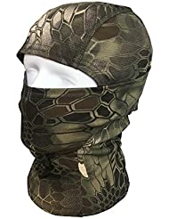 QMFIVE Balaclava Mask Camouflage, Tactical Airsoft Outdoor Hunting Ninja Hood Kryptek Camouflage Flexible Full Face Protective Mask