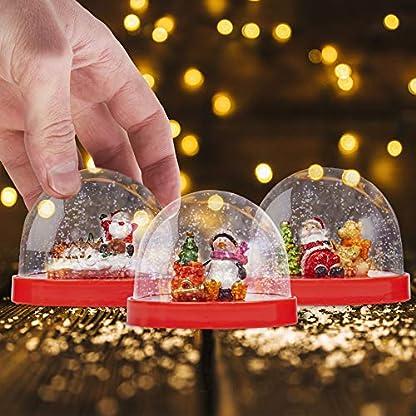 3 Globos de Nieve y accesorios temáticos de Navidad»Hazlo tú mismo» – Juguete perfecto para manualidades navideñas para niños Entretenimiento y diversión (PEGAMENTO NO INCLUIDO)