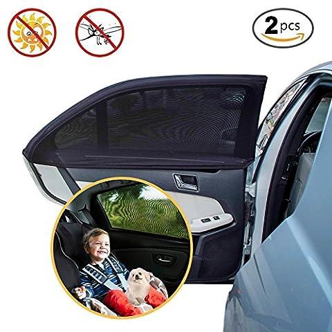 Pare Soleil Pour Vitre, PULNDA Fenêtre voiture universelle Shade 2 pièces,Protection UV Maximale Auto Fenêtre Latérale pour Bébé et Chien Installation Facile Fenêtre Voiture Protection pour la plupart des