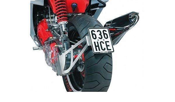 colore Nero HIGHWAY HAWK HIGHWAY HAWK Portatarga laterale per ruota posteriore