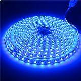 LEDMOMO Bett Licht Streifen leuchten Wasserdichte 220V LED Band Dekoration 4M (Blau)