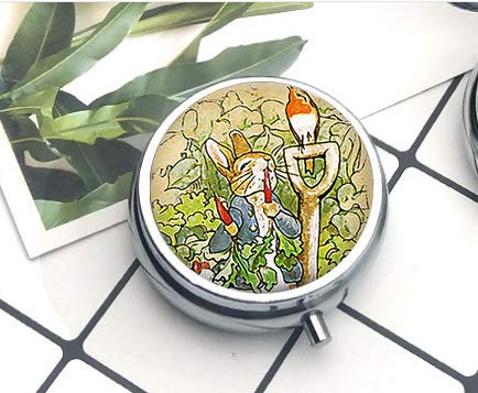 asd Anime Cartoon Peter Rabbit Halskette Glaskuppel Anima2 Pillendose Pillendose Literary Jewelry (Cartoons Für Lehrer Halloween)