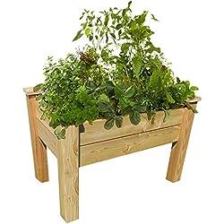 Bio Green Balkon & Terassenhochbeet 1000 x 600 x 750 mm aus Lärchenholz - unbehandelt