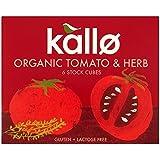 Kallo Tomate Orgánico Y Hierbas Pastillas De Caldo 66g (Paquete de 6)