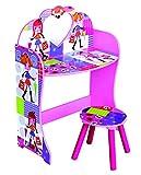 Kinder 's Pink Fashion Puppe Thema Schminktisch & Hocker