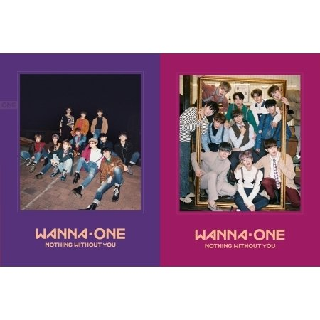 Wanna One 1st Repackage [1-1=0 Nothing without You] Wanna+One 2 Ver Set 2CD+2xPhotobook+2x1p Calendar Card+2x1p Photo Card+2x1p Mini Standing Doll+2x1p Golden Ticket
