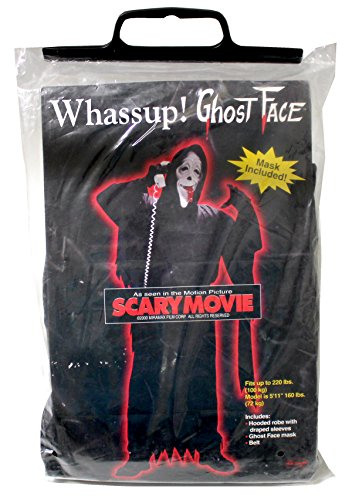 und Maske: Ghost Face Whassup! (Scary Movie Ghost Maske)