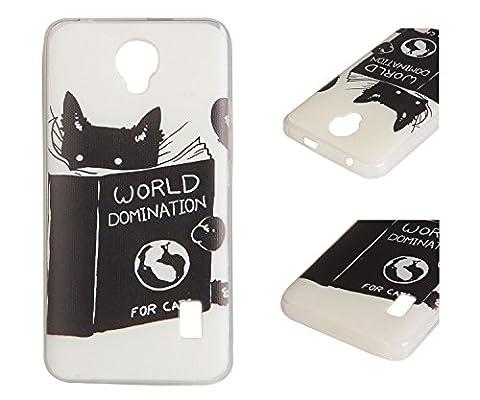 Pour Huawei Ascend Y635 Coque ZeWoo® Étui en Silicone TPU Housse Protecteur - YG012 / World Domination For Cats