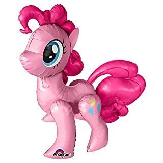 Life Size Pinkie Pie My Little Pony Foil Balloon AirWalker Big Giant 119cm Tall Anagram Shape Legs Horse Pony Balloon Air Fill Pink Birthday Get Well Christmas Present Gift
