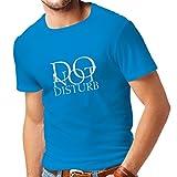 T-shirt pour hommes Ne pas déranger - citations drôles - cadeau (Small Bleu Blanc)