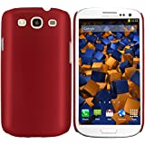 mumbi Schutzhülle Samsung Galaxy S3 i9300 Hülle (harte Rückseite) matt rot