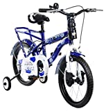 Mad Maxx Steel Kids Humber 16T Road Cycle, 16 inches (Blue and White)