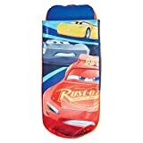 Disney Cars Junior ReadyBed - Inflatable Kids Air Bed and Sleeping Bag in one